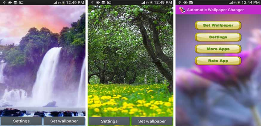 Automatic Wallpaper Changer on Android