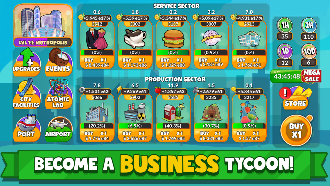 Holyday City Tycoon Idle Resource Management for PC
