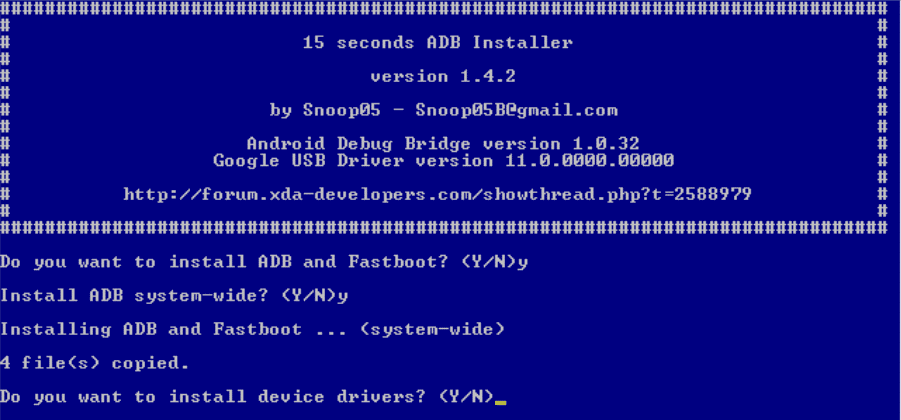 How To Setup ADB and Fastboot Drivers