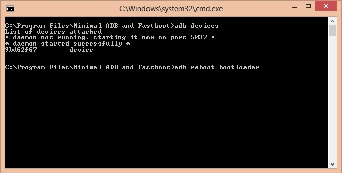Cmd prmpt boot loader