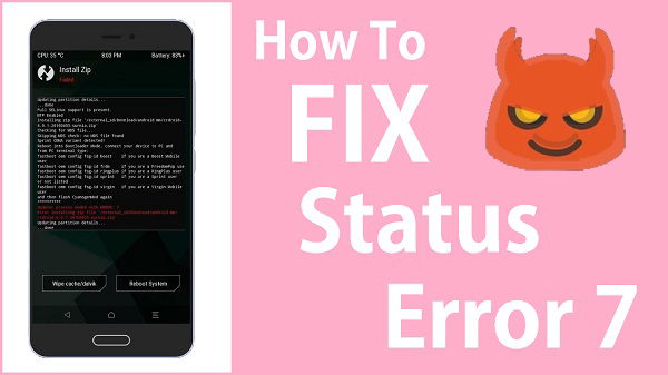 How to fix status 7 error