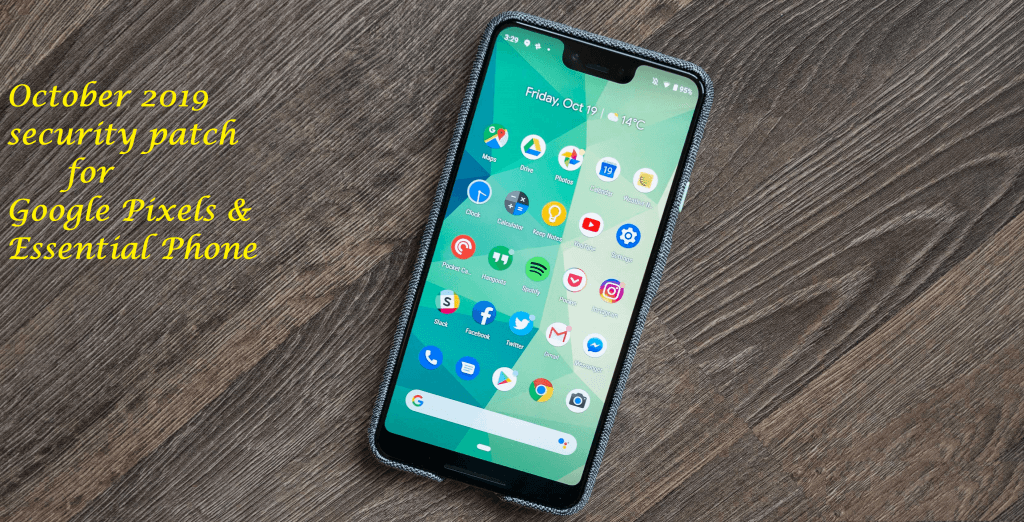 October-2019-security-patch-Google Pixel
