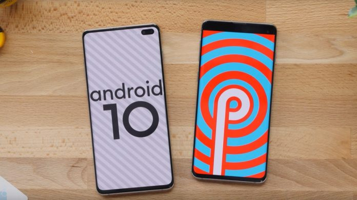 Samsung Galaxy S10 Plus, S10, and S10e Android 10