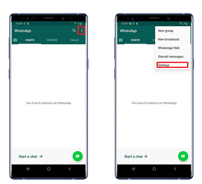 Fingerprint lock on Whatsapp Android