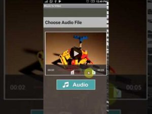 How to add background music to a video on Android
