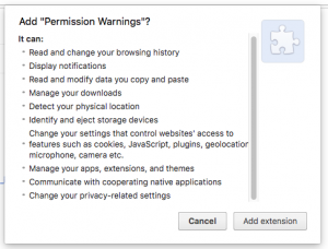 Permissions of Browser's Extensions