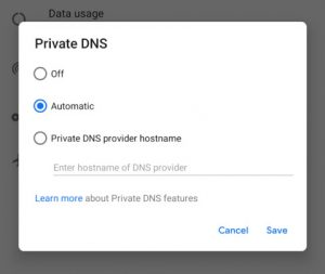Private-DNS-over-TLS-Android-P-Beta-2