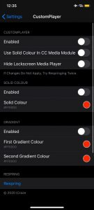 Customplayer Coustomize Colors