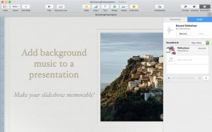 Add Background Music Soundtrack Keynote: Using Keynote to create a presentation, there are other reasons you may want to include background music.