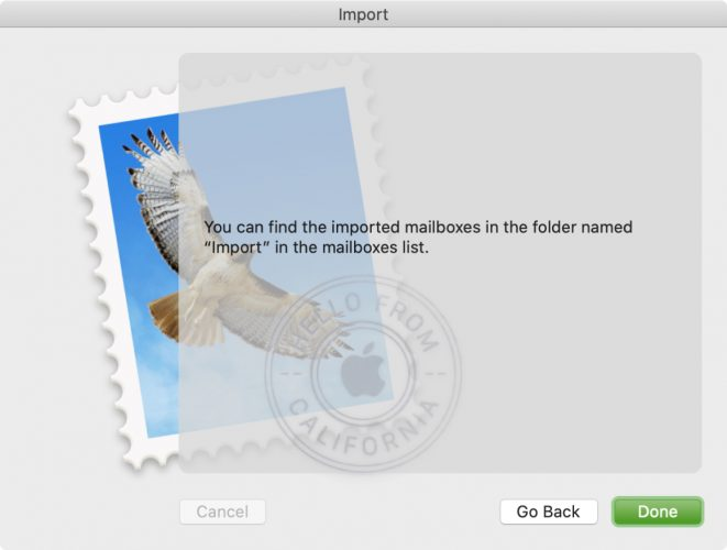 Import and Export mailbox