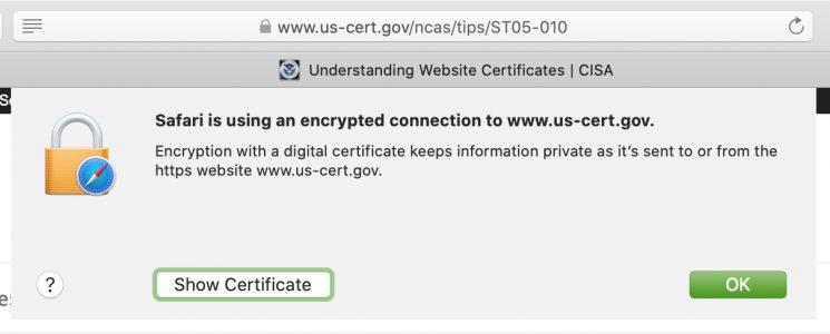 View Digital Certificate Safari Firefox
