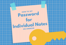 Set Password On Notes
