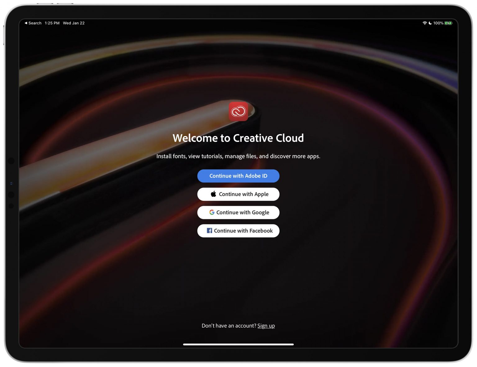 Adobe Creative Cloud Sign-In