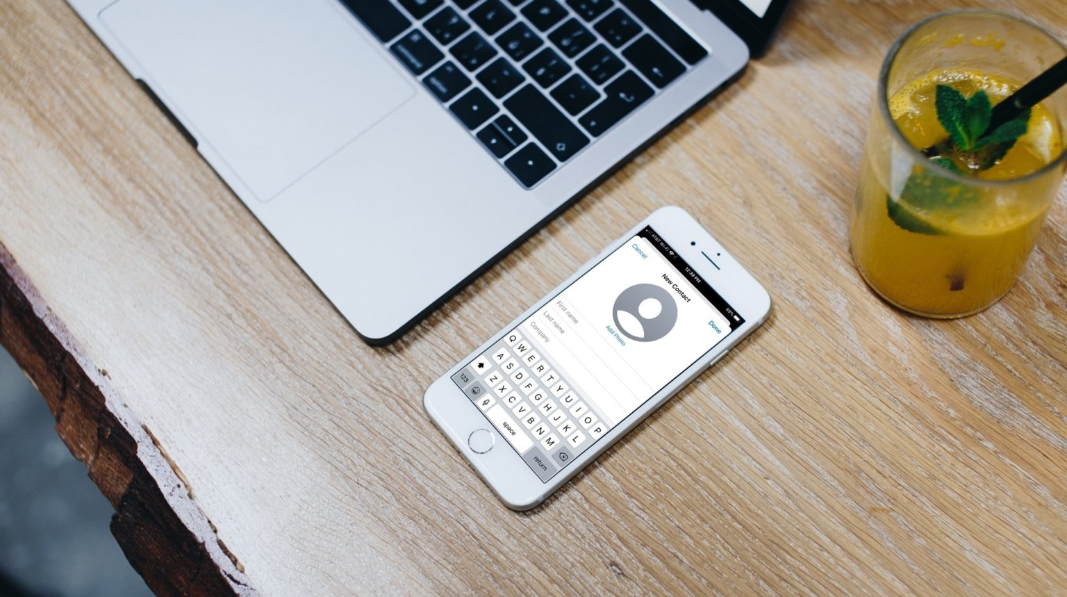 Save Numbers on iPhone Contacts