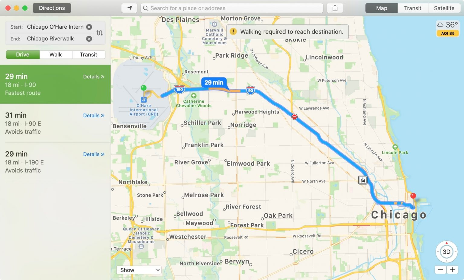 Measure Distance on Apple Maps