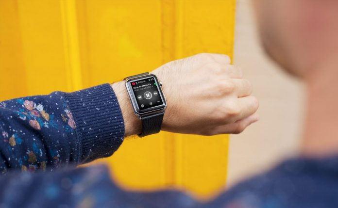 control and play music on Apple Watch