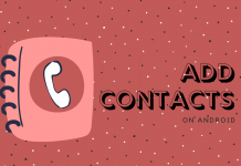 Add Contacts On Android