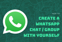 Create WhatsApp Chat with Yourself