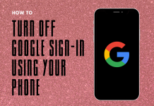 Turn Off Google Sing in