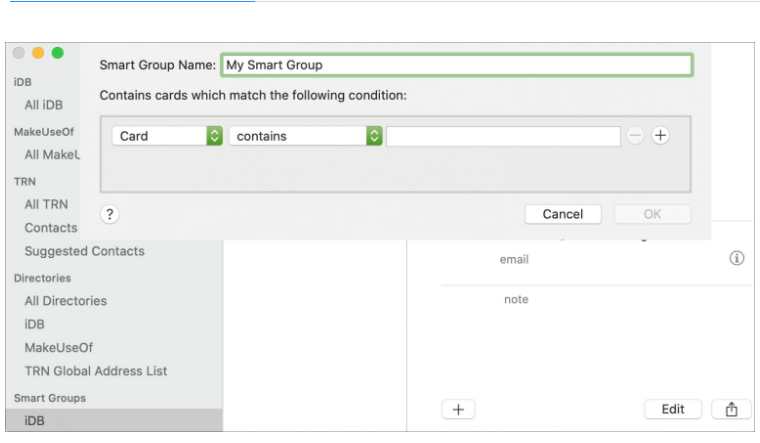 Create Smart Groups in the Contacts app