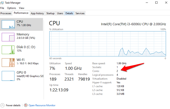 how many cores do i have