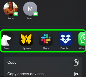 Customize the Apps In iOS Share Sheet