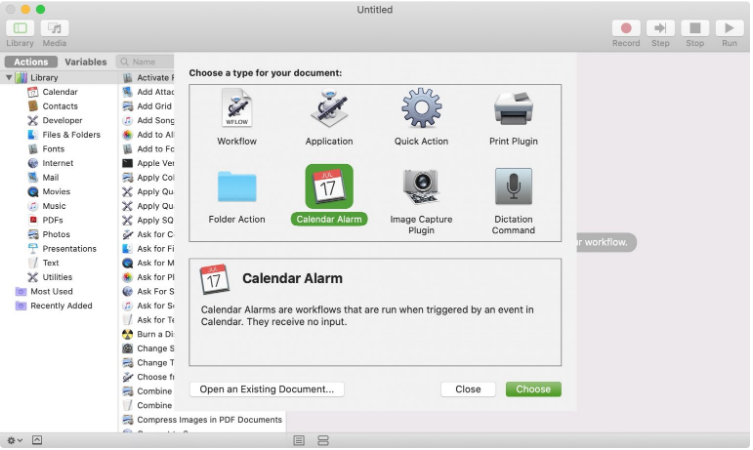 Speed Up Tasks With Calendar Alarms and Automator
