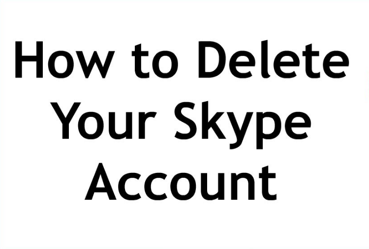 Delete Skype Account