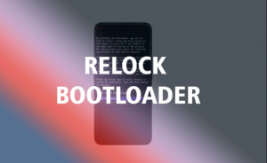 relock bootloader
