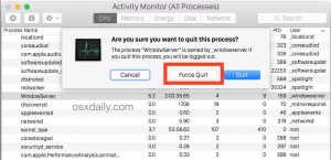 Force Quit through Activity Monitor