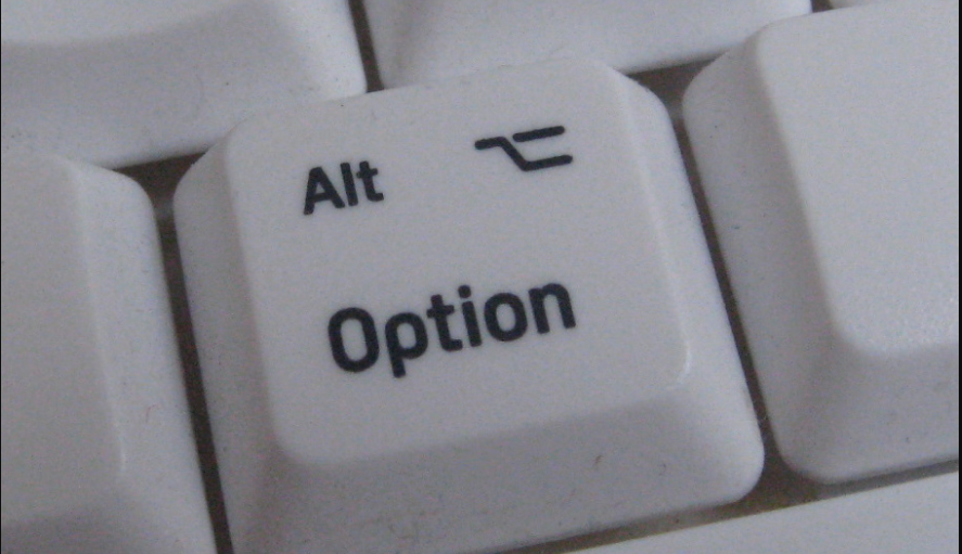 Option Key on Mac