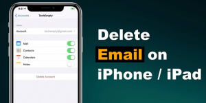 delete email from iOS
