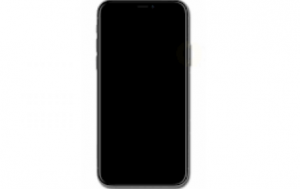 iphone x black screen