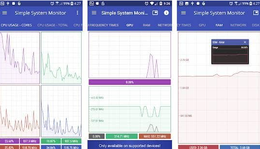 simpe system monitor
