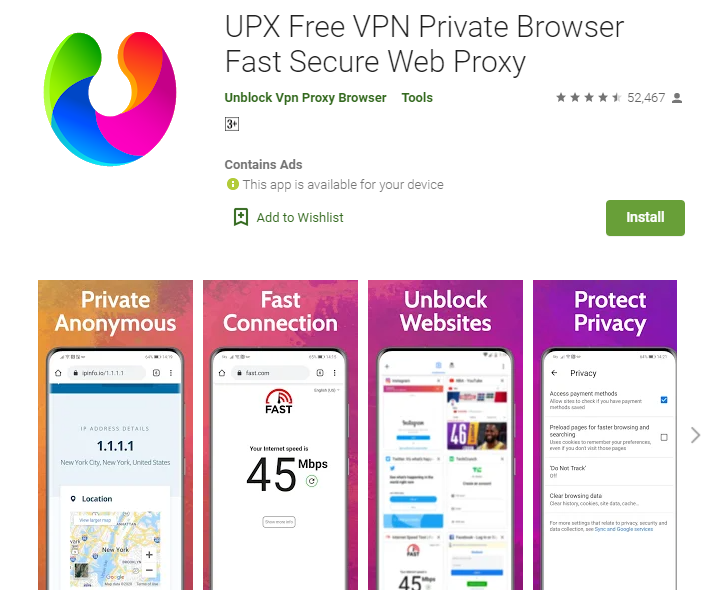 UPX Browser for PC