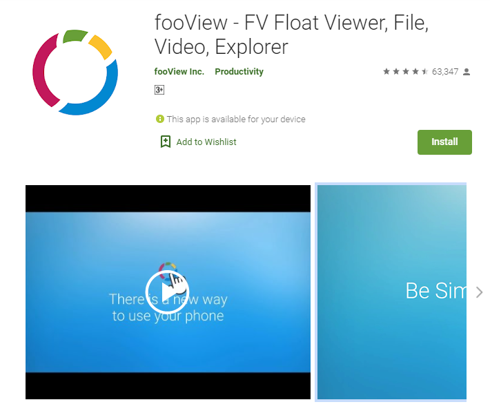 fooView for pc